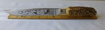 Vintage Othello Anton Wingen Jr Stag Hunting Knife Solingen Germany Collectible