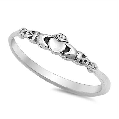 Claddagh Heart Celtic Design Ring New 925 Sterling Silver Band Sizes 2-10