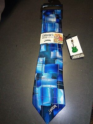 "Jerry Garcia Silk 3.5"" w Blue Sun Movement Collector's Edition Neck Tie NEW TAGS"