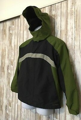 LL Bean Green Blue Kids Youth Jacket Coat Hooded Outerwear Size XL 18