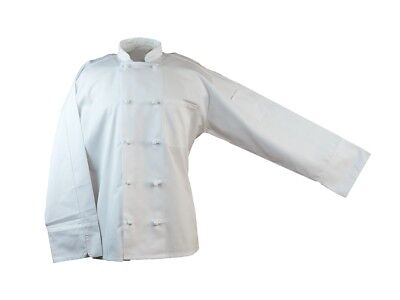 10 Knot Button Chef Coat Jacket XS-6XL Long Sleeve White New All Star Uniforms