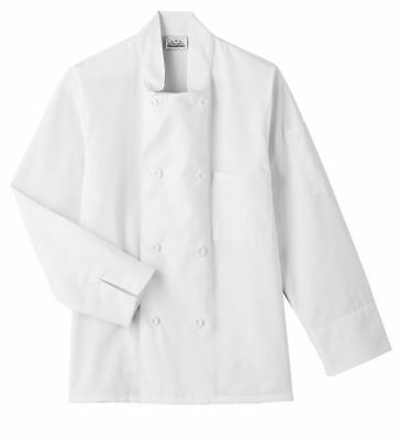 8 Button Long Sleeve Unisex Chef Coat Jacket XL White New All Star Uniforms Cook