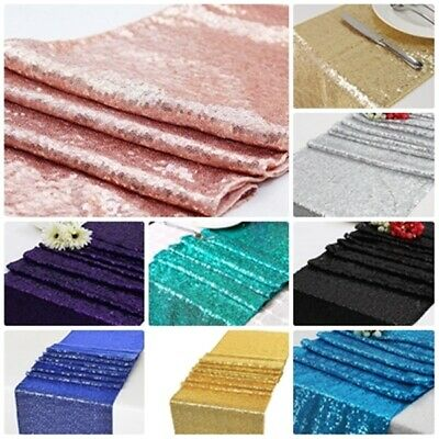 Sequin Table Runner Cloth Glitter Sparkly Shiny Bling Material Wedding Decor