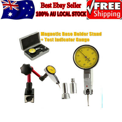 Magnetic Flexible Base Holder Stand & Dial Test Indicator Gauge Scale Precision