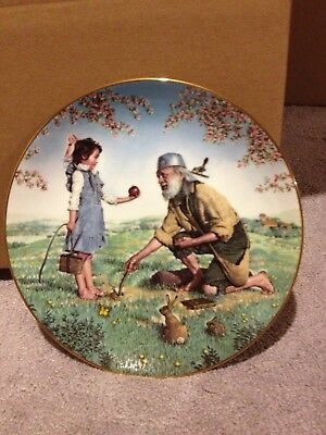 """Bradex American Folk Heroes """" Johnny Appleseed """" Collector Plate Numbered"""