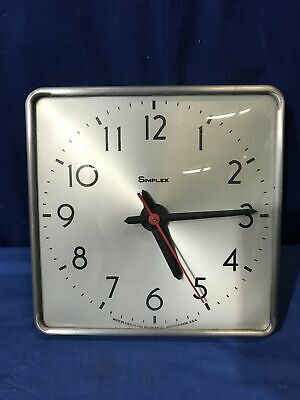 """10.5"""" Square Simplex Electric Slave School Wall Clock with Convex Glass 8135"""