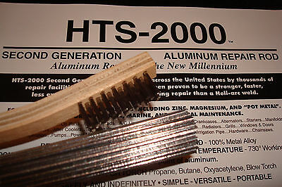 """10 18"""" Aluminum Brazing Rods HTS- 2000 Low Temp with Instructions~ Metal Repair"""