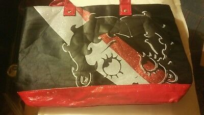 Betty Boop Large Tote Bag. Black And Red