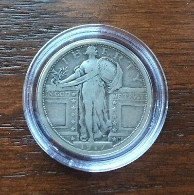 1917 Silver Standing Liberty Quarter In Top Condition!!  Type I.
