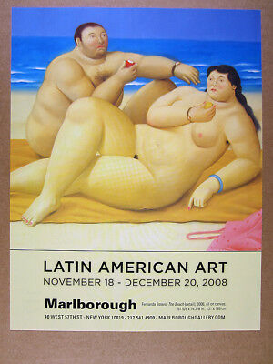 2008 Fernando Botero the beach painting Marlborough gallery vintage print Ad