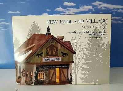 Dept 56 New England Village SOUTH DEERFIELD LIVERY STABLE!   Perfect! New?