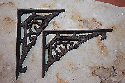 (2), Small Shelf Brackets, Petite Shelf Brackets, Vintage-look cast iron, B-43