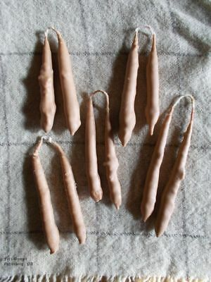 Hand Dipped Pure Tallow Candles/Primitive/Colonial/Early Lighting/18th Century