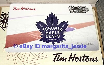 Tim Hortons Gift Card Toronto Maple Leafs 100 Nhl Hockey 2017 No Value Fd59156
