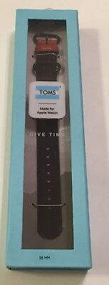 New in Box TOMS for Apple Watch Band 38mm In Black