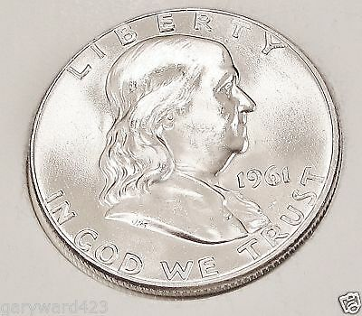 1961  D   Franklin   Choice  BU   Lustrous   White  Original   #918     9