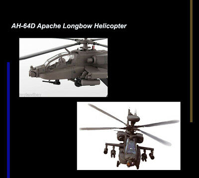 Model Power AH-64D Apache Longbow Helicopter 1:100 Scale Model 5600 US Army MIB