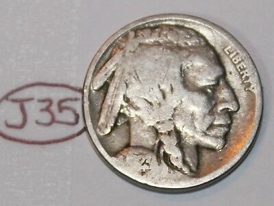 United States 1923 Buffalo Nickel USA Indian 5 Cents Coin Lot #J35