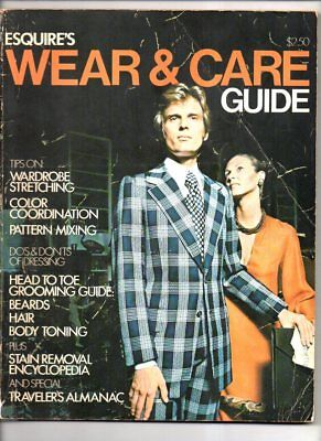 Esquire's wear & care guide 1972 vol 1 no 1 mens clothing and the way men dress