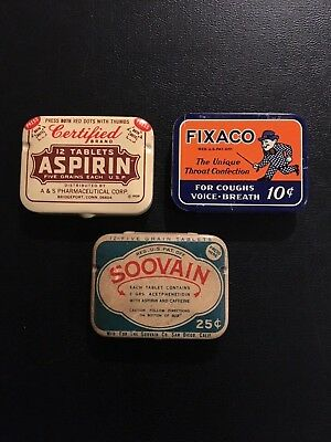 Lot of 6 Vintage Drugstore/Country Store Tins.
