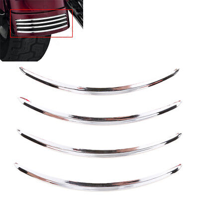 Chrome Rear Fender Trim Accents For Harley Road Street Glide FLHX 2006-2017