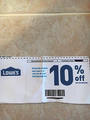 Lowes 10% Off Guaranteed ~ Exp 2/28/18