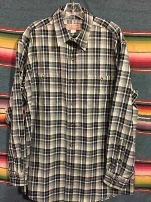 CC FILSON men's plaid long sleeve wool shirt sz Large NWOT *