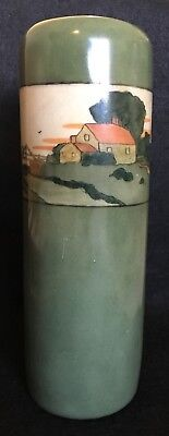 "Vienna Austria Hand Painted Stamped 10"" Tall Vase -- Maybe P H Leonard?"