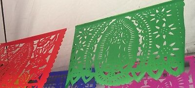 Mexican Papel Picado Our Lady Of Guadalupe Virgin De GuadalupeBanner
