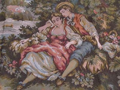 ROMANTIC FRENCH SCENE TAPESTRY WALLHANGING~Shabby~Cottage~Chic~Victorian