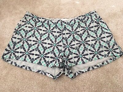 Joie Embroidered Shorts 4 Blue Green