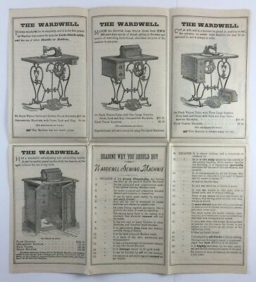 The Wardwell Sewing Machine Antique Illustrated Brochure St Louis MO 1870s 1880s