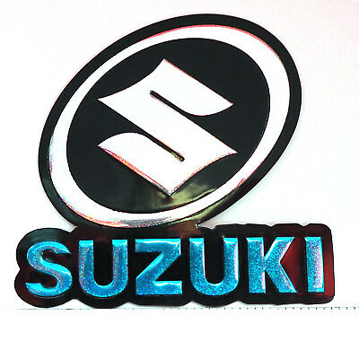 Suzuki Motor Car Sticker Reflect Light Decal Emblems BLUE 2.5x2.5""