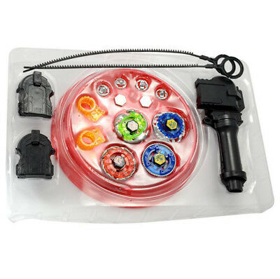 3D Beyblade Metal Masters Fusion Fight Launcher w/ Stadium Set Kids Toy 4 Tops