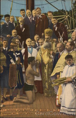 Tarpon Springs,FL Blessings After Receipt of the Cross from the Archbishop