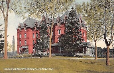 Massachusetts postcard Amherst North Dormitory M.A.C. University of