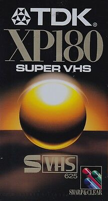 Tdk Xp180 Super Vhs + Teac E-180 X-2 Hi Def (3 Hours) Brand New