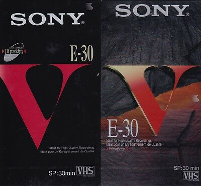 SONY E-30Vb VHS x 3 & SONY E-30Ve VHS x 5 (30 minutes) BRAND NEW (8 tapes total)