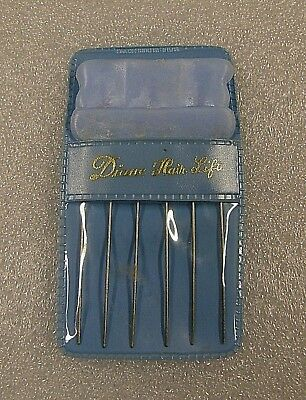 Vintage DIANE HAIR LIFT Styling Pick Powder Blue With Case * FREE SHIPPING!