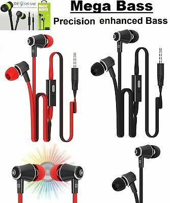 Super Bass In-Ear Earphones Handsfree Headphone For Iphone Ipad Ipod Samsung+Mic