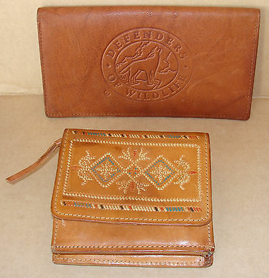 New Leather Southwestern Wallet  Leather Check Book Holder Defenders Of Wildlife