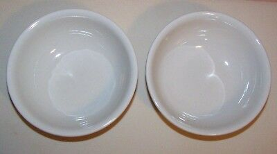 Longaberger Pottery Woven Traditions Ivory Soup/Salad/Cereal Bowls (2) Pre-Owned