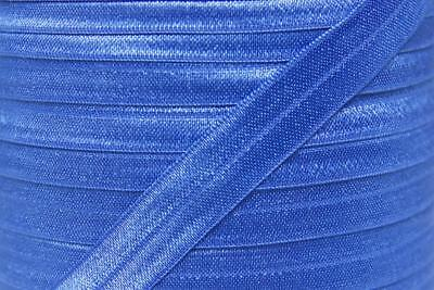 1m FOE royal electric blue, fold over elastic FREE POST, craft supplies