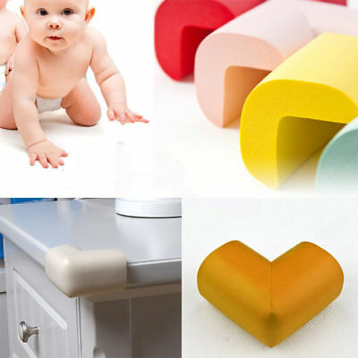 4 x BABY SAFETY CORNER CUSHIONS - DESK TABLE COVER PROTECTOR - SAFE FOR CHILD
