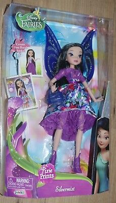 Disney Fairies Deluxe Pixie Prints Silvermist Water Fairy Tinkerbell doll toy