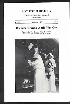 Rochester History Magazine Summer 1989 World War One Women on the Homefront