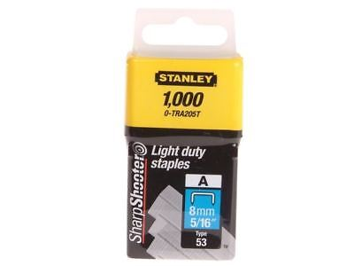 Stanley Tools TRA2 Light-Duty Staple 8mm TRA205T Pack of 1000 0-TRA205T