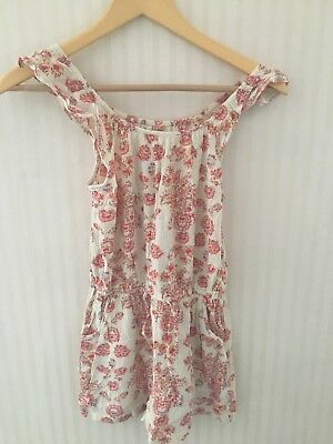 Girls NEXT Shorts Playsuit - age 10yrs - Excellent condition white pattern