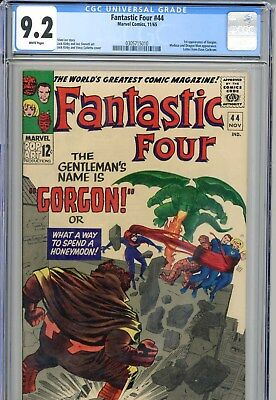 Fantastic Four #44 CGC 9.2   White Pages  1st Gorgon  Stan Lee Jack Kirby   1965