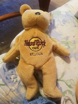 Collectible Hard Rock Cafe beanie baby bear